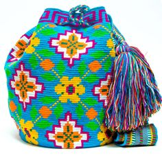 Wayuu Boho Bags with Crochet Patterns Tapestry Bag, Tapestry Crochet, Mochila Crochet, Free Crochet Bag, Backpack Pattern, Boho Bags, Wholesale Bags, Knitted Bags, Crochet Accessories