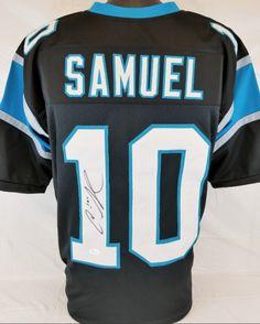reputable site 995c9 cde35 Curtis Samuel Signed Carolina Panthers Custom Jersey (JSA) – Miller  Memorabilia Carolina Panthers,