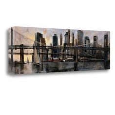 Tangletown Fine Art 'Down at East River' by Marti Bofarull Painting Print on Wrapped Canvas