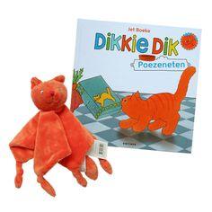 Leuk (kraam) cadeautje! Dikkie Dik boek en knuffeldoek. Voor maar € 12,50 en het wordt gratis verzonden! #Dikkiedik #kraamcadeau #cadeau