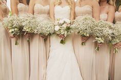 Simple Baby's Breath Bouquets #mercibeaucoupfloral #theknot