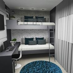 Fine Quarto Decorado Beliche that you must know, Youre in good company if you?re looking for Quarto Decorado Beliche Room Design Bedroom, Room Ideas Bedroom, Home Room Design, Small Room Bedroom, Home Bedroom, Bedroom Decor, Design Kitchen, Teen Bedroom, Bedroom Designs