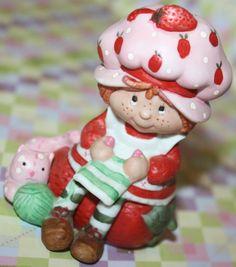 Strawberry Shortcake Figurine, $22