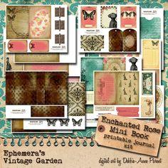 Enchanted Rose 4x6  Printable Journal Kit by EphemerasGarden, $14.95 (Debbie -Ann Parent) Has really nice journal kits on her site!!