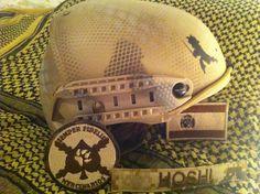 El casco de mi compañero Hoshi. C.D. Semper Fidelis (Málaga-España)
