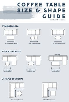 furniture arrangement Coffee Table Size And Shape Guide Home Design, Interior Design Guide, Interior Decorating Tips, Interior Colors, Interior Plants, Decorating Ideas, Design Ideas, Coffee Table Size, Cool Coffee Tables
