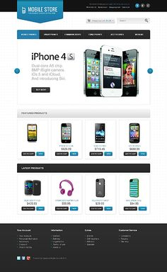 Mobile Shop OpenCart Templates by Ares