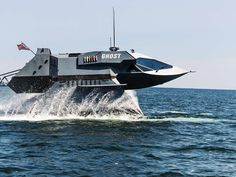 The high-tech battle against pirates | Ghose looks more like a spacecraft than a seaborne combat vessel. Ghost could serve many functions, including as a luxury speedboat or an attack ship for Navy SEALs. But the mission it appears best suited to is fighting pirates. Ghost is a natural interceptor; riding above the water on robotically stabilized pontoons, remaining steady in all but the roughest of seas.