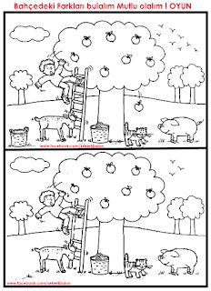find the difference Visual Perceptual Activities, Learning Activities, Activities For Kids, Animal Coloring Pages, Colouring Pages, Hidden Pictures, Picture Puzzles, Activity Sheets, Preschool Worksheets