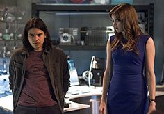 Danielle Panabaker and Carlos Valdes in The Flash (2014)