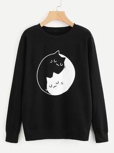 Shop Graphic Print Sweatshirt online. SheIn offers Graphic Print Sweatshirt & more to fit your fashionable needs.
