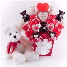 Valentine's Day Candy Bouquet Special Bear Lollipop