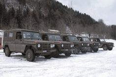 During the World Economic Forum (WEF) in Davos, a mobile radar station is installed on a hill nearby. Army Base, Swiss Army, Switzerland, 4x4, Mercedes Benz, Arms, Trucks, Fire, Awesome