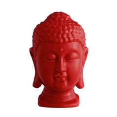 A conversation piece for any room - but in red this Buddha head can really turn some heads!