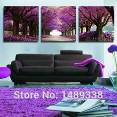 Purple Tree http://walldecordeals.com/product/3-panel-modern-purple-tree-canvas-painting-picture-cuadros-abstract-printed-landscape-painting-for-living-room-no-frame-t731/