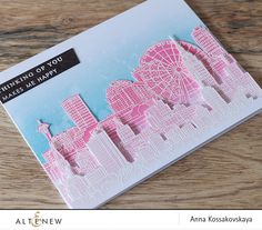 Hello! Anna is here and I want to share with you my new card. This is a self lifting, I made almost the same card for the last release's blog hop, but this one I made another way. I used only resist effect with white powder here, white cardstock and stamps from three sets –Sketchy …