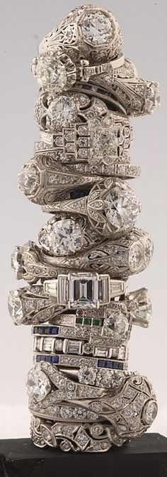 Weddbook is a content discovery engine mostly specialized on wedding concept. You can collect images, videos or articles you discovered  organize them, add your own ideas to your collections and share with other people - Weddbook ♥ Barker's antique vintage diamond rings. OMG ! amazing engagement ring