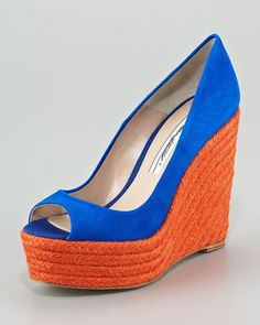 ShopStyle: Brian Atwood Colorblock Espadrille Pump