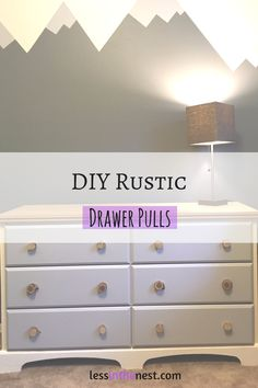 These rustic wood drawer pulls cost nothing to make because they upcycle other materials. You can make them quickly and easily with this DIY.