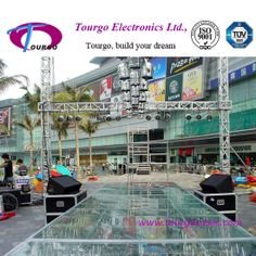 catwalk show truss with glass stage