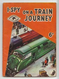 Train enthusiasts can enjoy thumbing through this nostalgic I Spy guide to vintage trains and stations. Includes sections on signals and track details. I Spy Books, My Books, Book And Magazine, Magazine Covers, Train Journey, Little Books, Booklet, Childhood Memories, Childrens Books