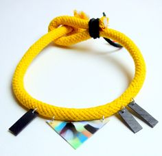 Spring 2013 Szamanka Design - Yellow Bound Choker One