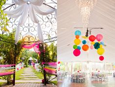 so i love color but i cant decide if i would actually do this at my wedding