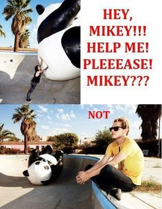 That's what he gets for teasing Mikey about the Unicorns ;)