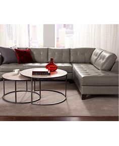 Arturo Sectional Leather Living Room Furniture Collection - furniture - Macy's