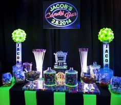 neon colored candy buffet - Google Search