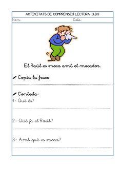 Dori dos 1112_mt005_r1_comprensio_lectora_3 Maila, Teaching, Writing, School, Cl, Texts, Frases, Education