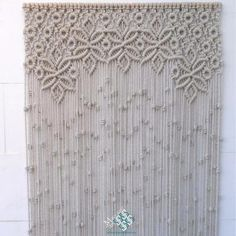 I make these curtains to order and on request. Well, order them at MacrameArt, the macramé shop-shop. Macrame Art, Macrame Design, Macrame Projects, Macrame Knots, Macrame Wall Hanger, Macrame Curtain, Crochet Curtains, Diy Curtains, Rideaux Design