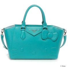 Samantha Thavasa Vega Hello Kitty Azayle Handbag Hand Bag Emerald Green Large JAPAN