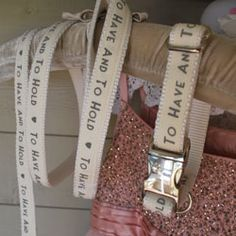 Must have 'To Have & To Hold' collar and lead set. Perfect pooch wedding accessory.