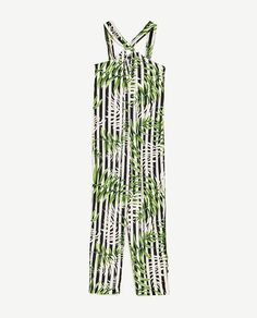 Image 8 of LEAVES PRINT JUMPSUIT from Zara