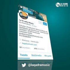 Siguenos en Instagram @laqadramusic | Estamos en Twitter.com/laqadramusic #Twitter  #laqadramusic Siguenos y recibe información sobre nuestra música y estrenos.  #DondeSiSeHaceMusic  #EstudioDeGrabacion Prod. By. MarkBlade #LaEminencia #Venezuela  #reggaeton #dembow #musicaurbana #mastering #mixing #grabacion #beats  #musica #musicanueva #urbano #artistas #cantantes #productormusical #producers #dj #protools #flstudio #studioone #studioporn #fb #tw