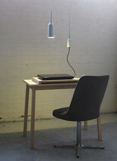 Porcelain lamps and sockets by Lotte Douwes