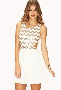 Showstopper #Sequin #Cutout #Dress $27.80  Get 4% cash back http://www.studentrate.com/all/get-all-student-deals/Forever21-Student-Discounts--/0