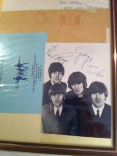 """""""auto pen"""" Beatles autographs - direct with compliments from Freda Kelly in Liverpool- arrived 1966 ( a gift from my childhood friend Jonny)"""