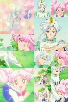 Chibiusa and Helios - Sailor Moon Season 4 - (SuperS)