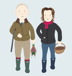 An illustration of my mum and step dad