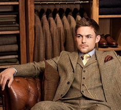 — alifewellsuited: Three Piece Tweed Suit