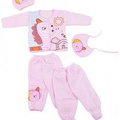 Kuchipoo-Winter-Wear-Baby-Set-Pink-0-to-9-Month-0