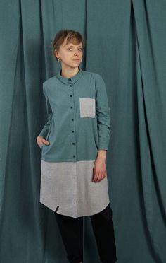 tunika JEZIORO - METR64 - Torby Nerki Plecaki... Tunic Tops, Fashion Outfits, Women, Fashion Suits, Fashion Sets