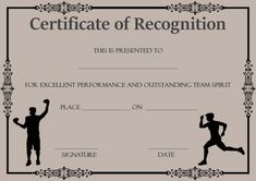 Certificate of academic recognition template certificate of certificate of recognition template sports yelopaper Image collections