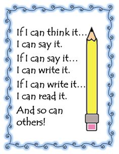 Free poster (in 2 versions!) to help kids make the connection between their own lives and writing, from First Grade W.O.W. Also, some thoughts on self-selecting topics for writing. I agree!!