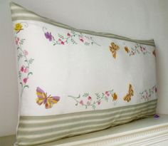 Bolster French Hand Embroidered Silks floral by Retrocollects £35 https://www.etsy.com/shop/Retrocollects