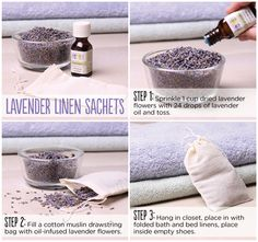 How to make a lavender linen sachet. Lavender aids in helping getting a good night's sleep. Lavender Oil Uses, Lavender Bags, Lavender Sachets, Lavender Ideas, Lavender Scent, Lavender Fields, Craft Gifts, Diy Gifts, Lavender Crafts