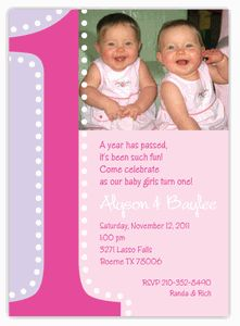 Twin girls first birthday invitation 1st birthday twins pink and big one photo twin girls first birthday invitation filmwisefo