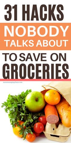 In this post I'll show you 31 Ways to Save Money On Groceries so you can master frugal living. Really need to need to lower your grocery budget and start saving money on groceries? Then head over to the blog to lower your grocery bill with these frugal grocery shopping tips. Don't forget to save it to your Frugal Living board so you can easily refer to it later. How to Spend Less on Groceries | Money Saving Grocery Tips | Frugal Grocery Shopping